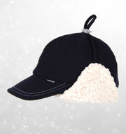 Bedhead Fleecy Legionnaire Winter Hat with Strap - Navy