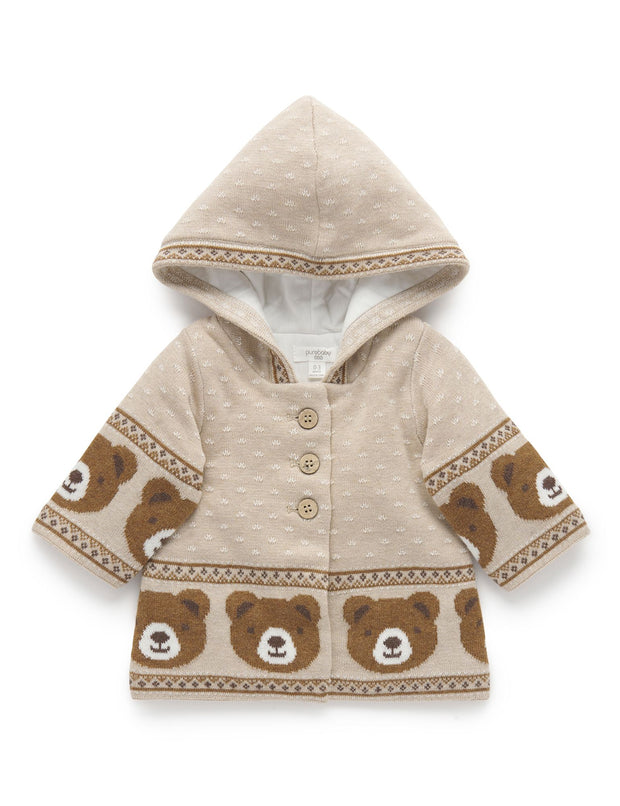Purebaby Little Bear Boys Brown Padded Jacket