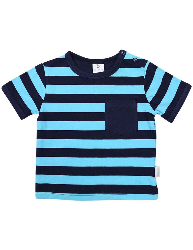 Korango Boys Camper Van Pocket Tee (Blue & Navy)