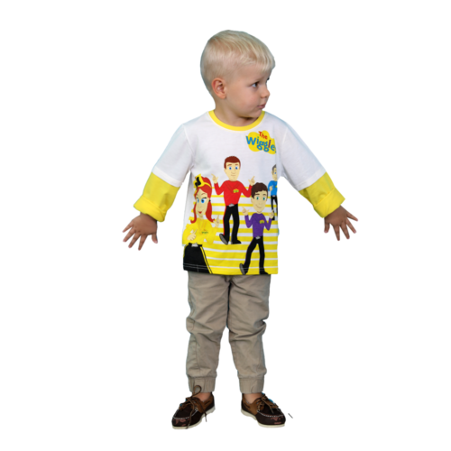 The Wiggles Long Sleeve Printed Mock Sleeve T-Shirt