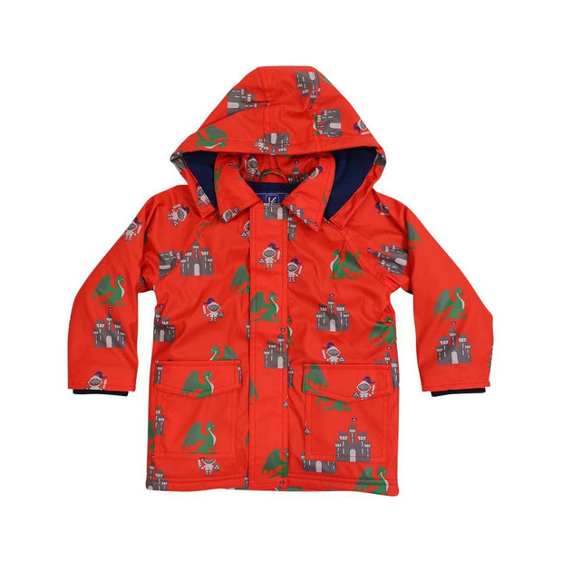 Korango Rainwear Red Knights and Dragons Raincoat