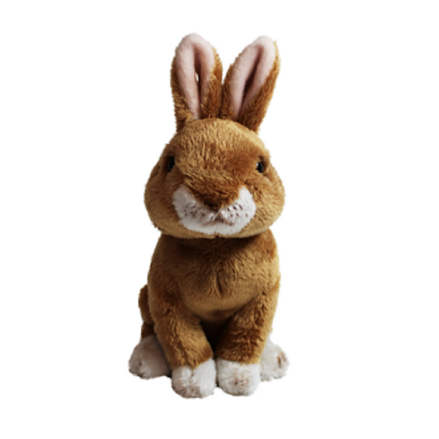 Cuddly Critters Easter Rabbit: Sitting Brown 20cm