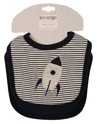 Korango Baby Boys Navy Blue Little Rocket Bib Set - 2 Pack