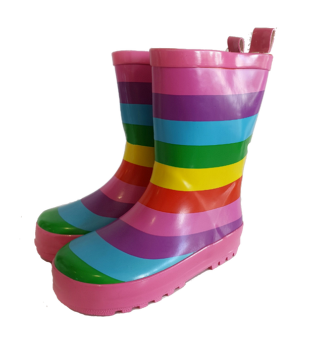 Korango Rainwear Rainbow Striped Gumboot