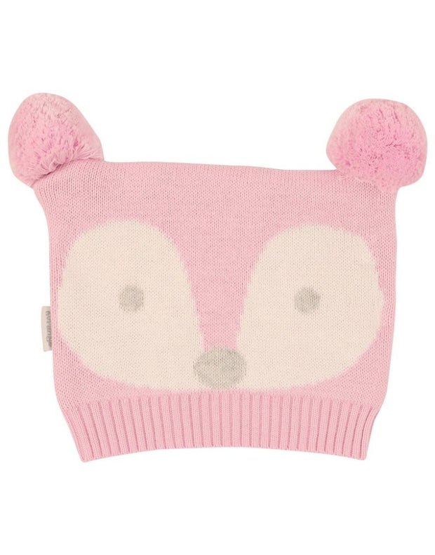 Korango Baby Girls Winter Little Fawn Pink Beanie 100% Cotton