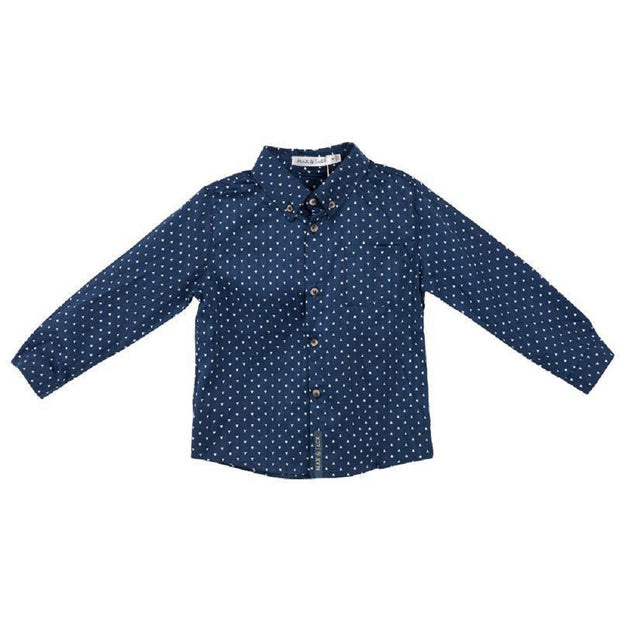 Max & Jack Boys Hunter Arrow Print Shirt/L - Navy