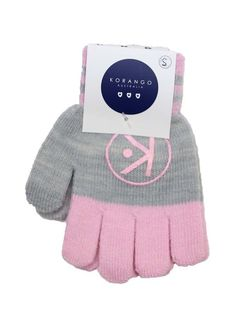 Korango  Girls Pink & Grey Gloves Large 2-4 Y