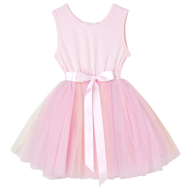 Designer Kidz Girls Pink Rainbow Tutu Dress
