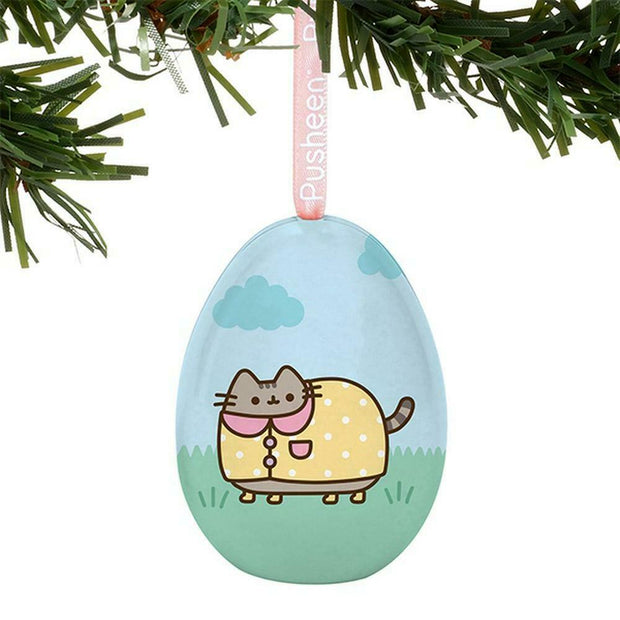 Pusheen the Cat Tin Egg Ornament Rainy Day