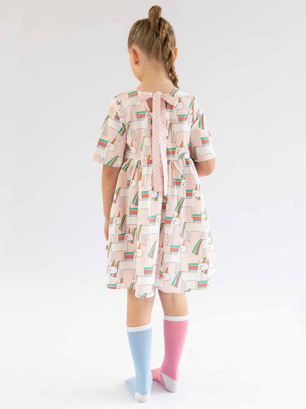 Oobi Uma Pink Unicorn Dress