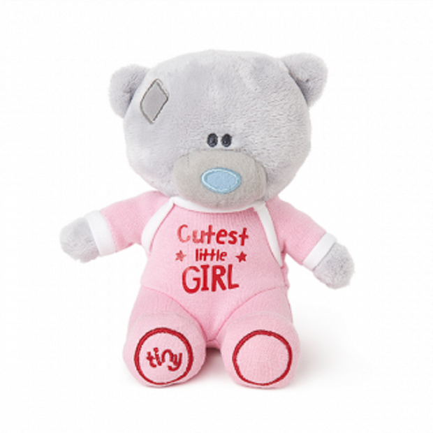Tiny Tatty Teddy Plush Cutest Little Girl Onesie