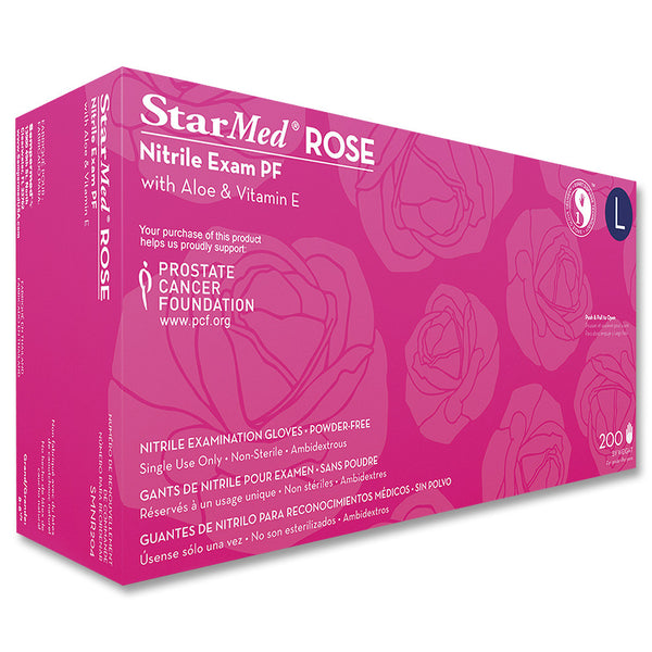StarMed Rose Nitrile Gloves Powder Free