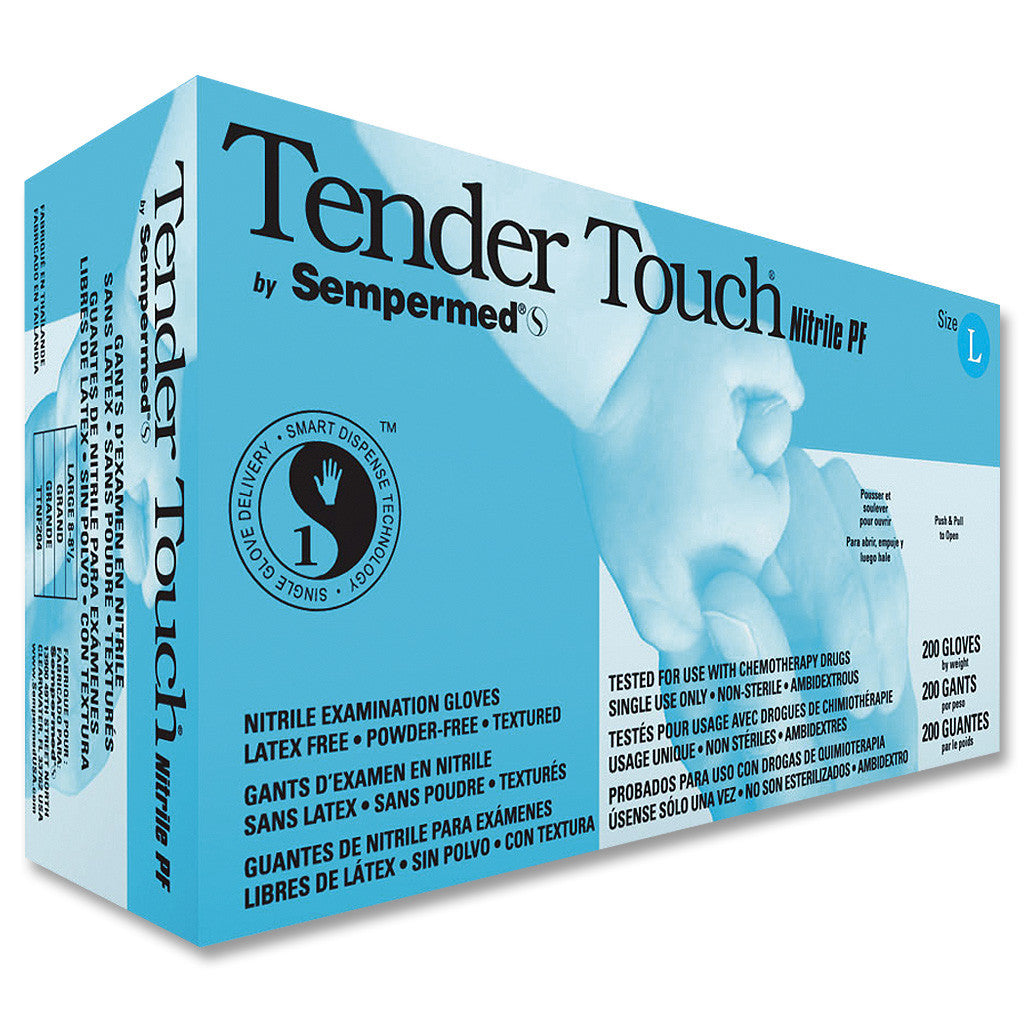 TenderTouch Periwinkle Nitrile Gloves PF