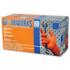 Gloveworks HD Orange Nitrile PF Industrial Gloves