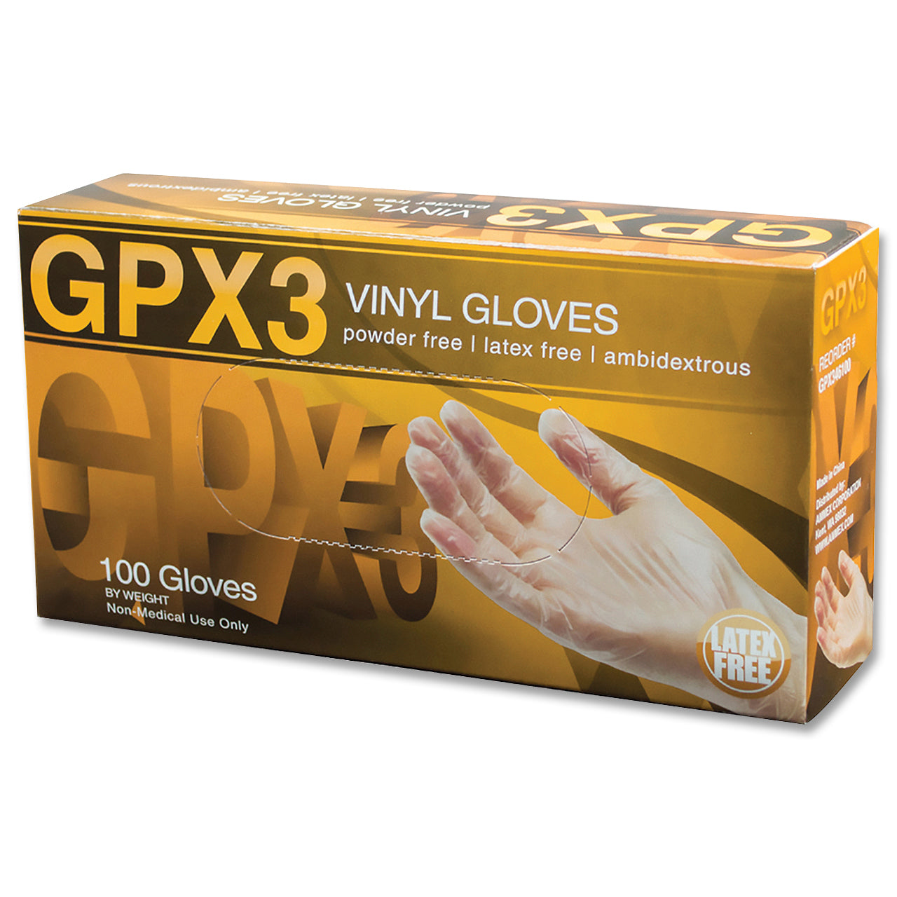 GPX3 Clear Vinyl Industrial Glove