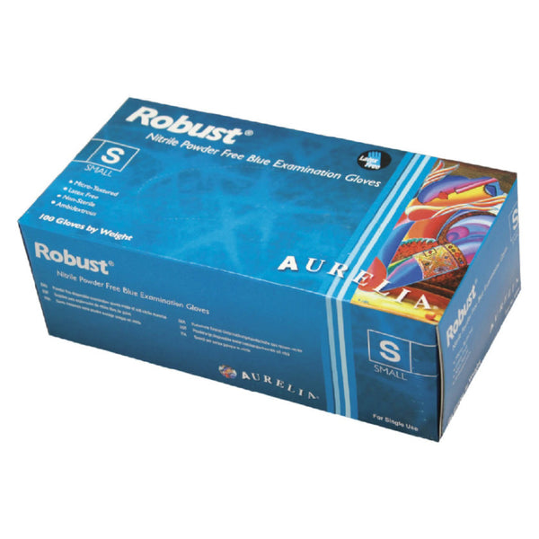 Aurelia Robust Soft Blue Nitrile Gloves