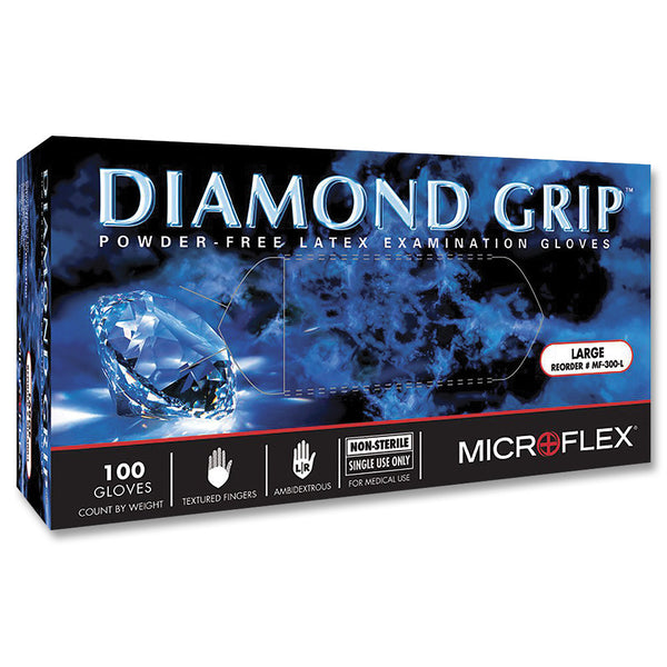 Microflex Diamond Grip Natural Latex