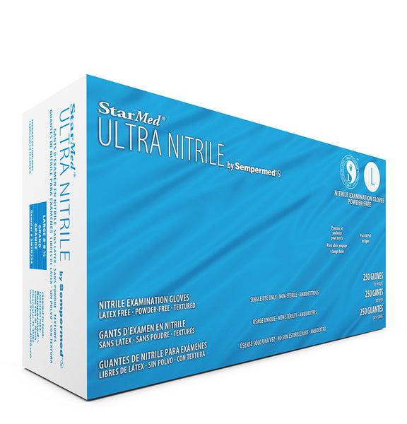 StarMed Ultra Periwinkle Nitrile Gloves