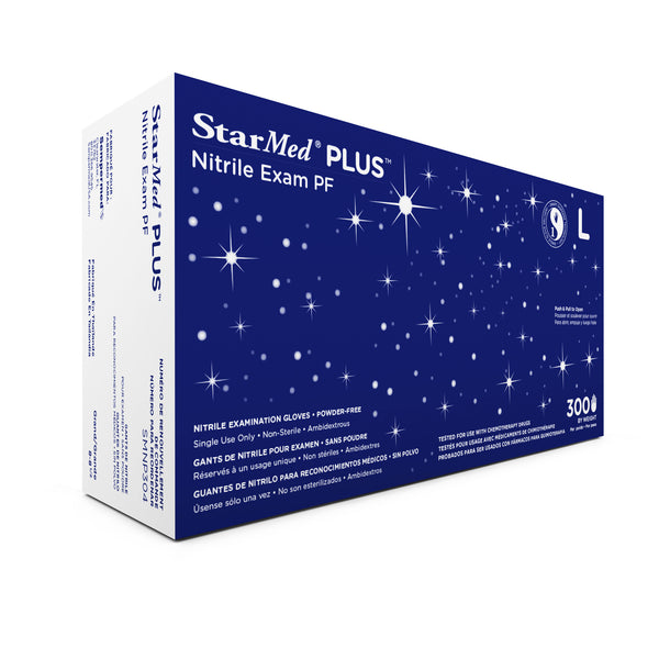 StarMed Plus Cobalt Nitrile Gloves PF