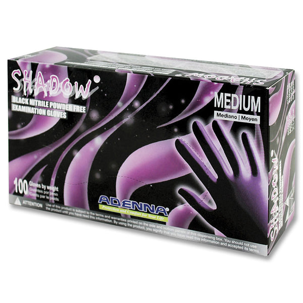 Adenna Shadow Black Nitrile Gloves PF