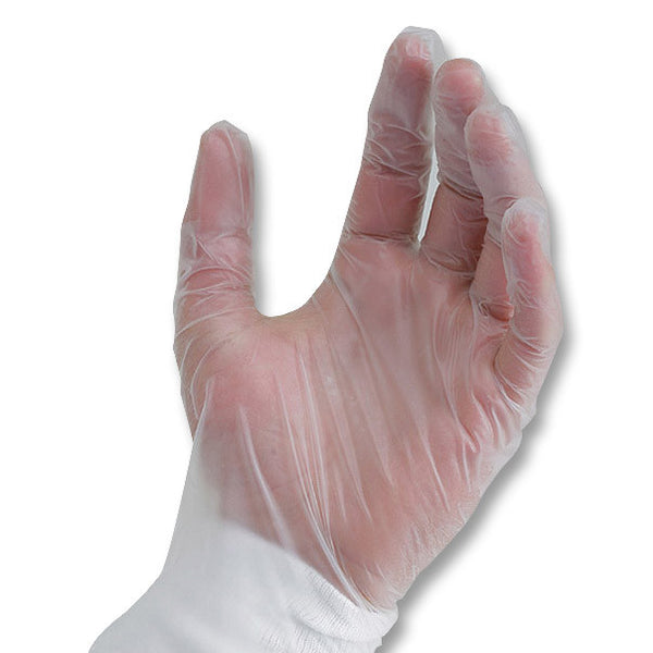 Basic Medical Clear Vinyl Gloves PF