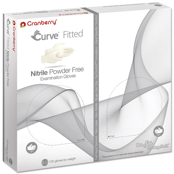 Cranberry Curve White Nitrile Fitted