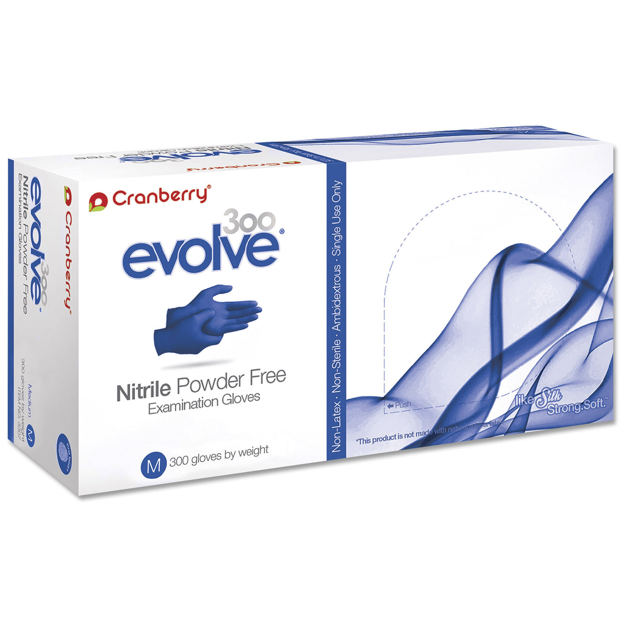 Low Priced Cranberry Evolve Blue Nitrile Gloves My Glove