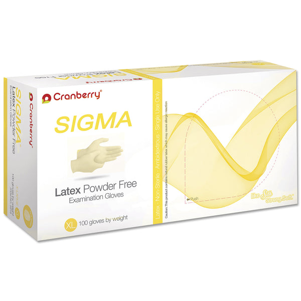 Cranberry Sigma Natural Latex Gloves