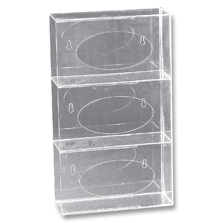 Glove Box Holder Side Load Triple Clear My Glove Depot