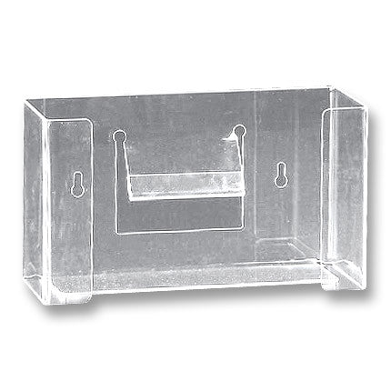 Glove Box Holder - Single Horizontal - Clear