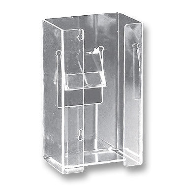 Glove Box Holder - Single Vertical - Clear