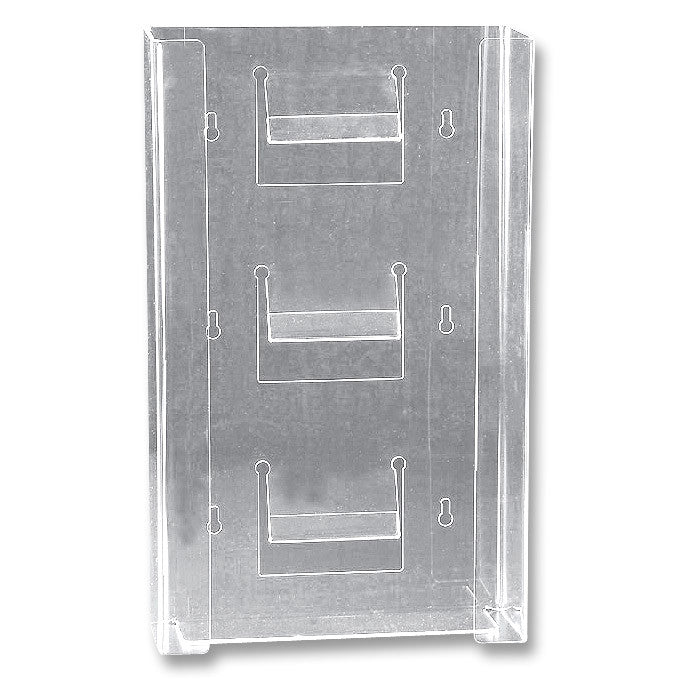 Glove Box Holder - Triple Horizontal - Clear