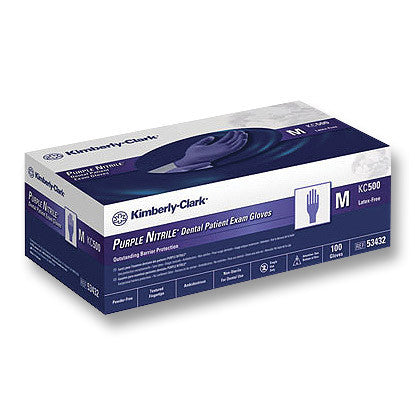 Halyard Purple Nitrile Gloves PF