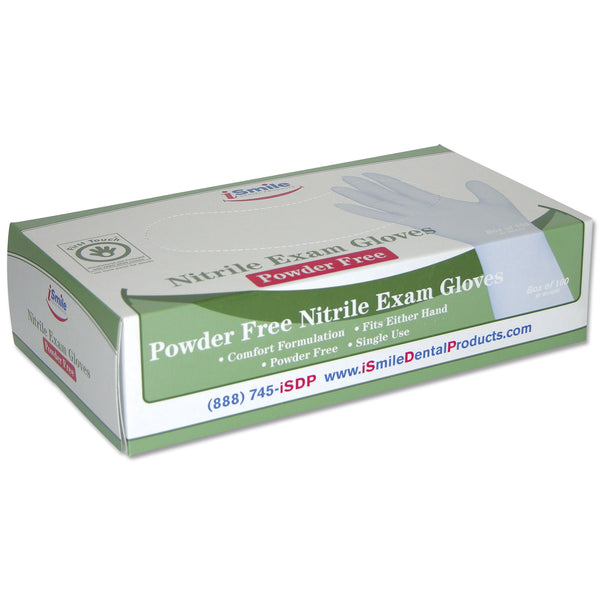 iSmile Blue Nitrile Gloves Powder Free