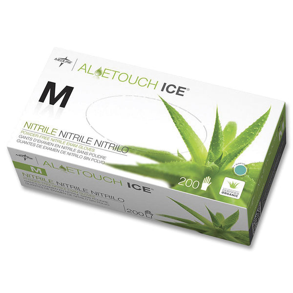 Medline AloeTouch Ice Green Nitrile