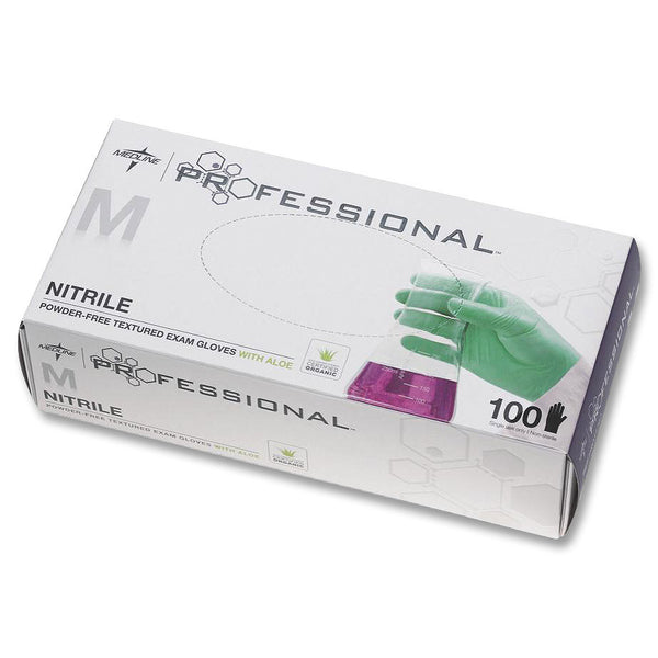 Medline Professional Aloe Green Nitrile