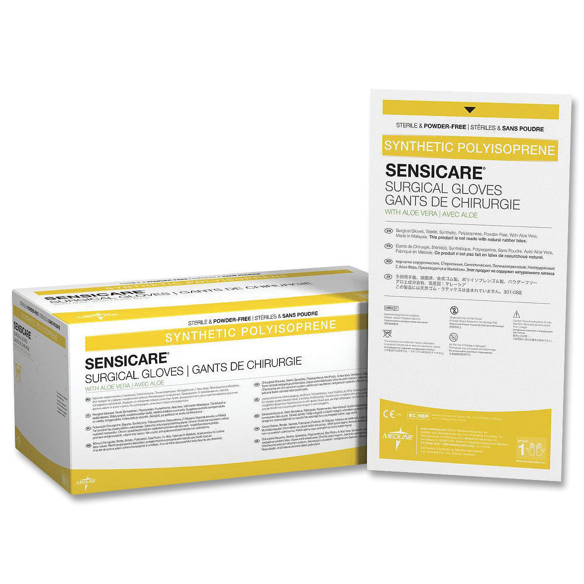 Medline Sensicare Aloe White Nitrile