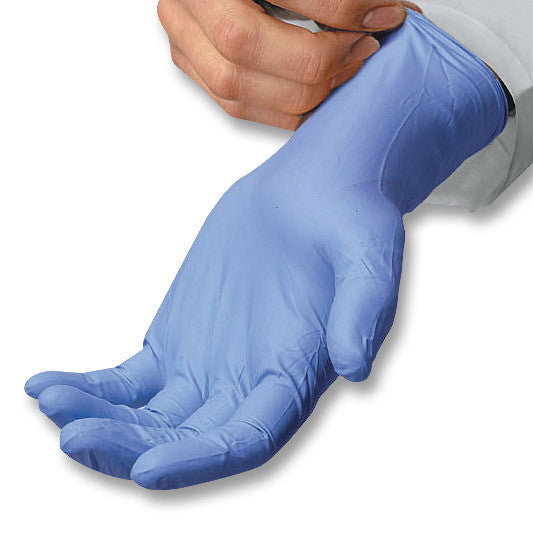 Safety Zone Blue Nitrile Gloves PF