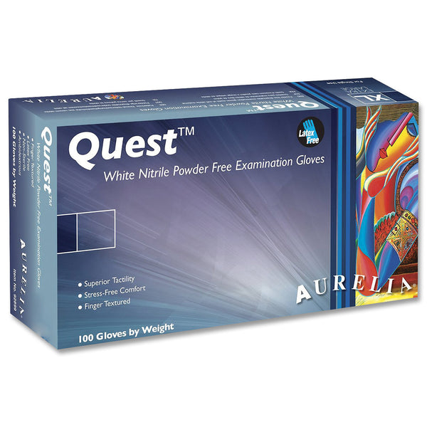 Aurelia Quest White Nitrile Gloves PF