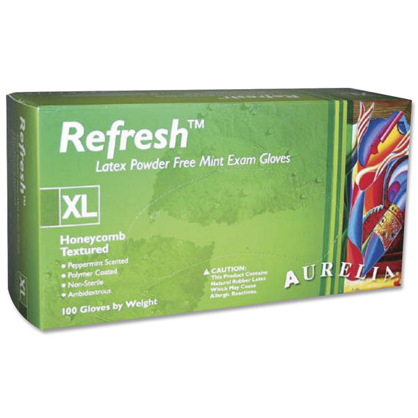 Aurelia Refresh PepperMint Latex Gloves
