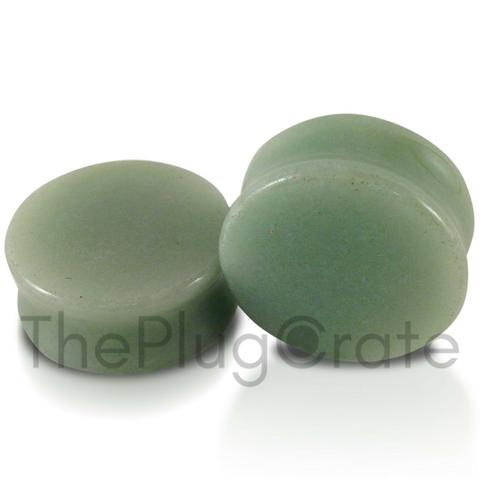Aventurine Stone Plugs for stretched ear