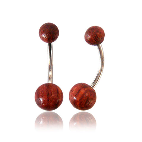 Tamarind Wood Belly Ring