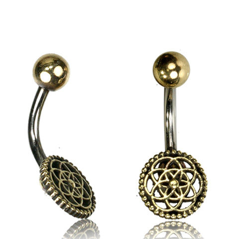 Flower of Life Belly Ring