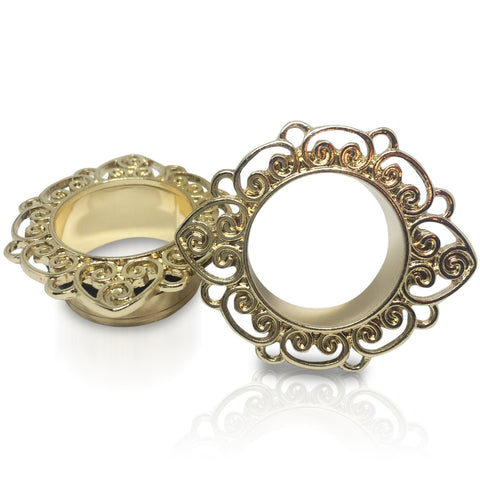 Gold Plated Filigree Flower Eyelets