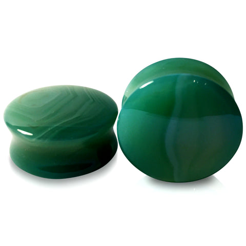 Green Stripe Agate Stone Premium Plugs