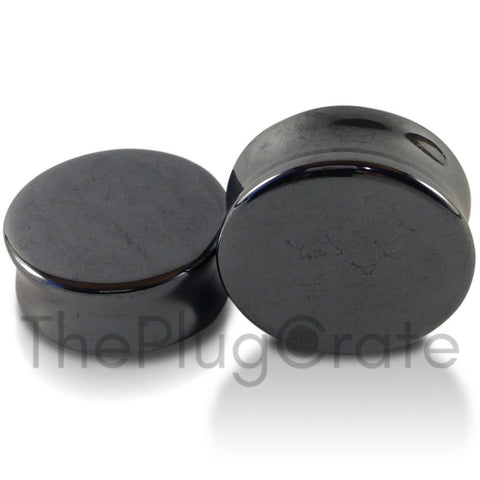 Hematite Stone Plugs for stretched ears