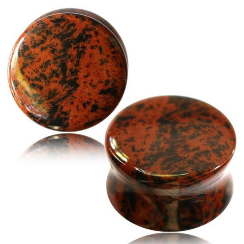 Mahogany Obsidian Stone Plugs for stretched ears