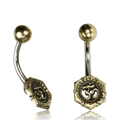 Ohm Symbol Belly Ring