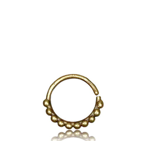 Premium Brass Beaded Septum