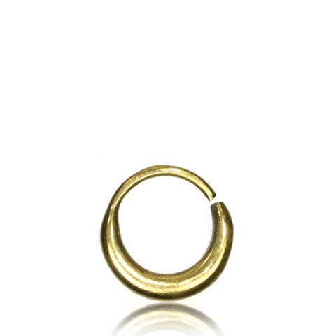 Premium Brass Crescent Nose Ring